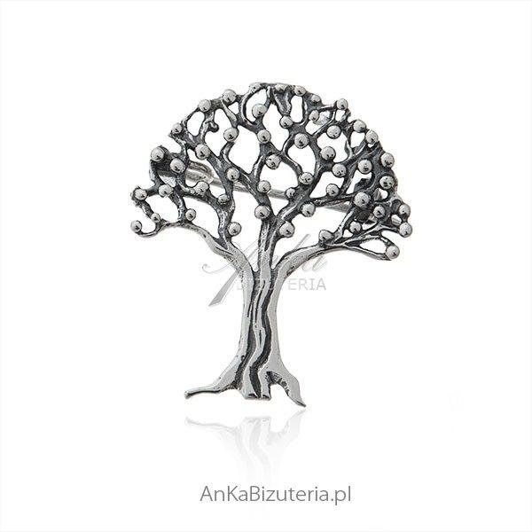 ankabizuteria.pl Broszka srebrna drzewko szczęścia Hecznarowice - image 1