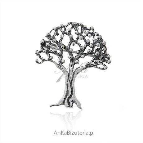 ankabizuteria.pl Broszka srebrna drzewko szczęścia
