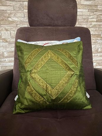 Poszewka na poduszkę 40x40 cm zieleń ozdoba dekoracja jak NOWA