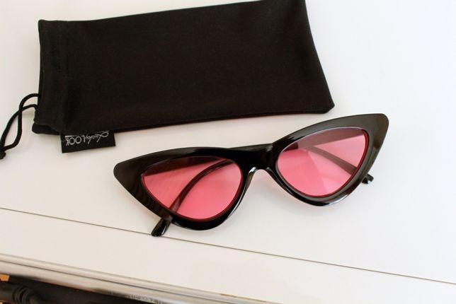 Треугольные солнцезащитные очки Lucky Look Luckylook кошачий глаз