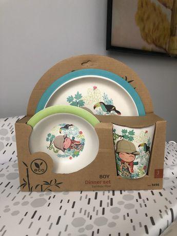 Продам новый бамбуковый набор посуды Fissman для мальчика