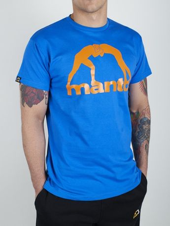 Koszulka MANTO T-SHIRT LOGO VIBE niebieska