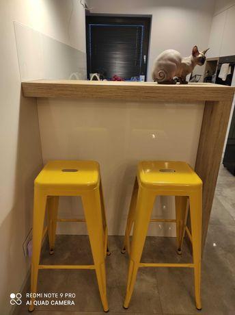 Krzesła barowe żòłte