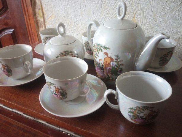 """Фарфоровый чайный сервиз """"Мадонна"""" ( 6 персон) 14 предметов"""