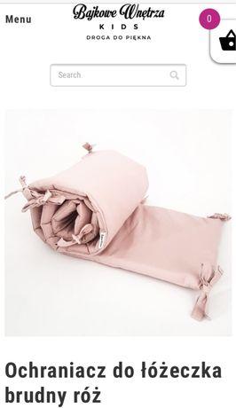 Ochraniacz na łóżeczko 360x30 brudny róż Bajkowe wnętrza