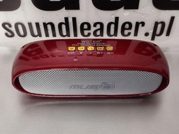 Głośnik bluetooth bezprzewodowy przenośny radio odtwarzacz MP3 czerw