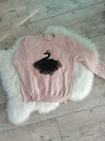 Sweterek pudrowy róż