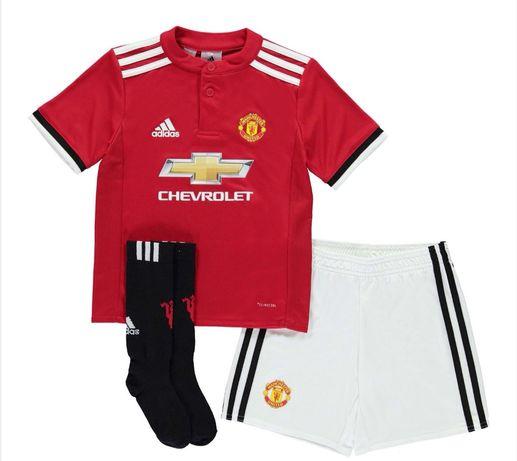 Strój piłkarski Adidas, Manchester United, komplet piłkarski 18-24mies