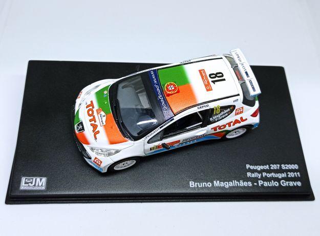 Miniatura 1/43 Bruno Magalhães Peugeot 207 RP2011
