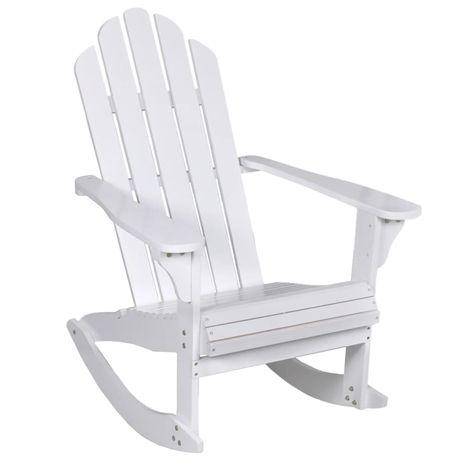 vidaXL Cadeira de baloiço para jardim madeira branco 40861