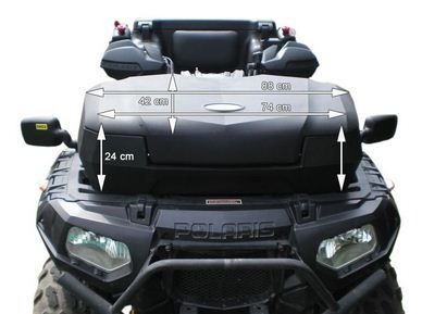 Moto4 mala frontal 90L top case bagageira topcase quad atv utv frente