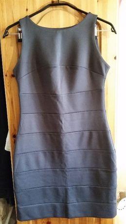 NOWA fioletowa sukienka, dopasowana mini, 38/M.