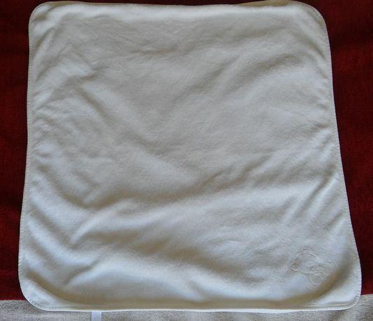 Manta Bebe Polar Branca 80x80cm