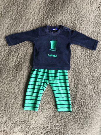 Komplet dziecięcy bluza spodnie dresowe Lupilu 74 80