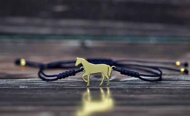 Koń / konik - bransoletka, srebro pozłacane -925
