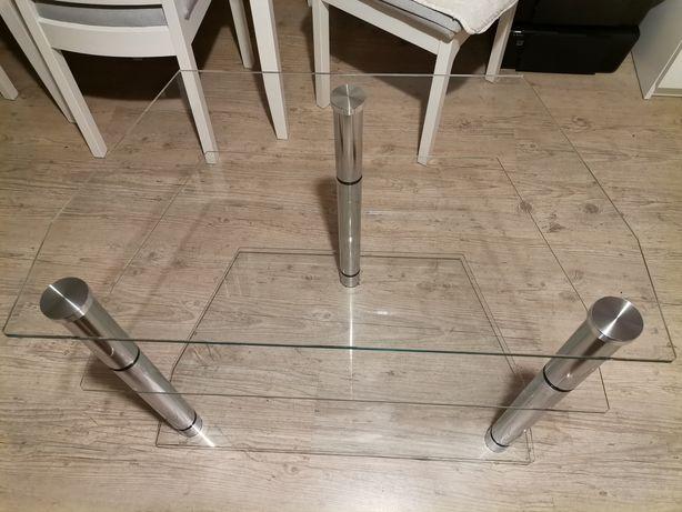 Szafka, stolik TV Szkło + dodatkowe szkło. SUPER, do podświetlenia
