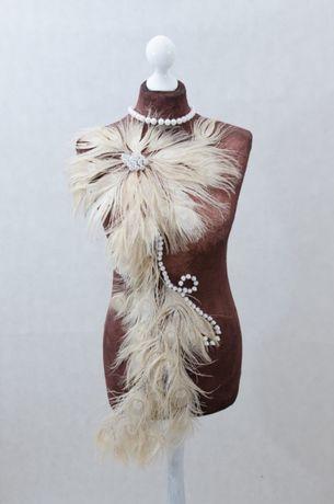 Manekin krawiecki ozdobny pawie pióra – Paw rękodzieło