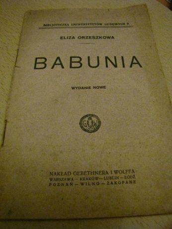 """kolekcjonerska książka z 1925r. """"Babunia"""" Eliza Orzeszkowa"""