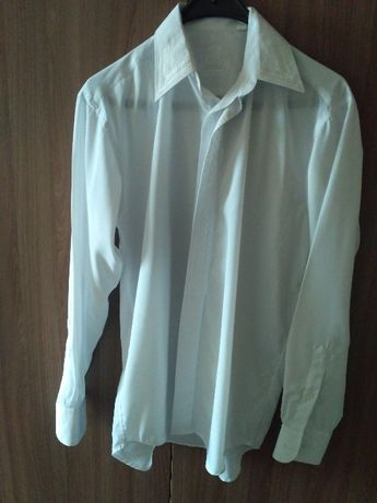 Белая нарядная рубашка сорочка 44-46-48 р Новая
