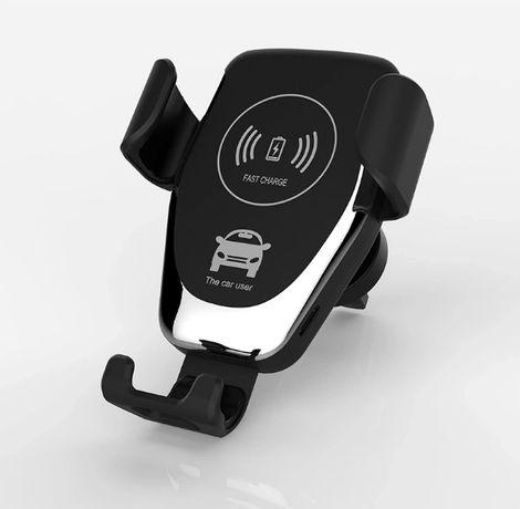 Uchwyt Samochodowy na Telefon z Ładowarką Indukcyjną