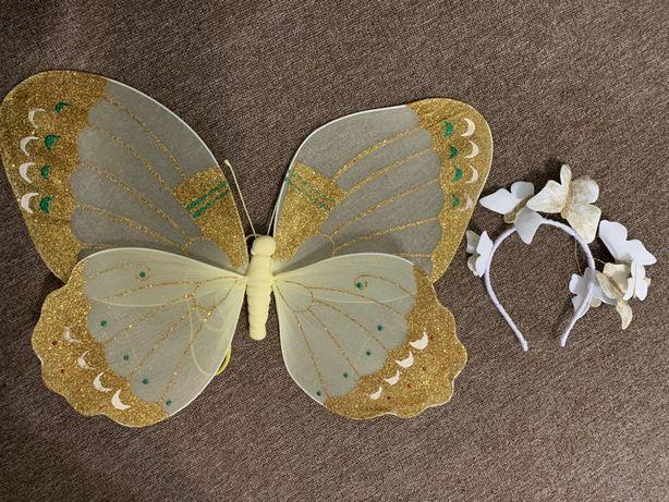 Костюм бабочки обруч и крылья бабочки
