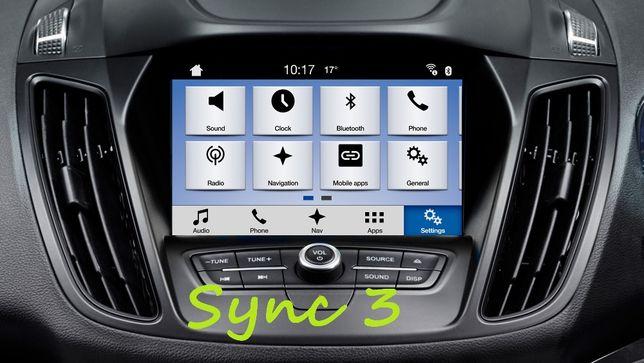 Polskie Menu Ford Sync3 Sync2 1 Mapa F10 ODBLOKOWANIE Nawigacji EU USA