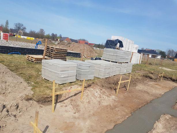 Bloczek betonowy fundamentowy 14cm i 12cm, mamy swój transport.