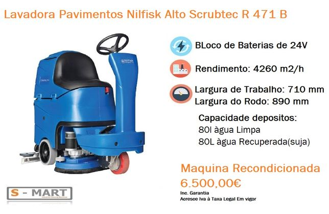 Lavadora Aspiradora Pavimentos Nilfisk Alto R 471