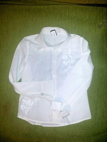 Блузка рубашка школьная 8-9лет
