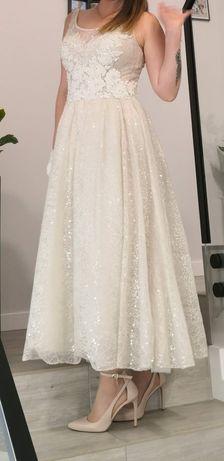 Suknia ślubna S/M założona tylko raz :)