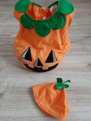 Strój Halloween dynia dla 3-4 latka nowy