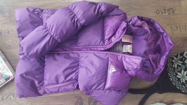 Adidas kurtka puchowa dla dziewczynki 9-10 lat, rozmiar 140 + gratis