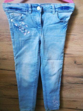 Spodnie jeansowe dziewczęce rozm. 110