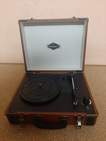 Gramofon auna retro brązowy