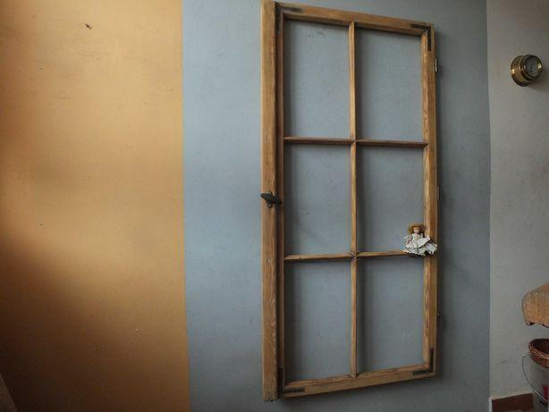 Stare okno drewniane---około 1930-40 rok---bardzo duże, piękne