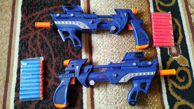 Автомат 40см бластер на пулях пена пули пистолет игрушечный іграшковий