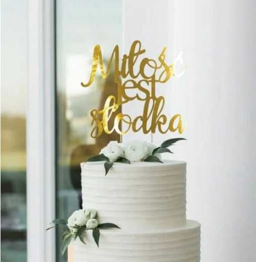 Nowy topper na tort, ślub