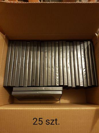 Zestaw 25 pudełek do płyt DVD