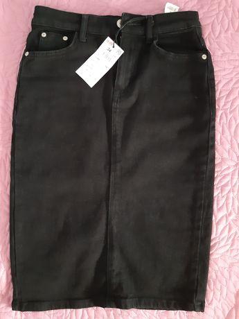Nowa czarna ołówkowa spódnica