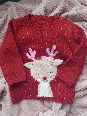 Sweterek świąteczny George 9-12 M