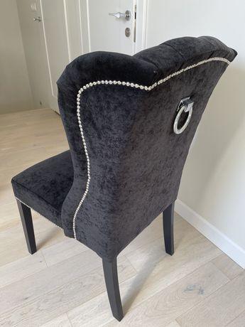 Czarne wybijane Krzesła - OKAZJA