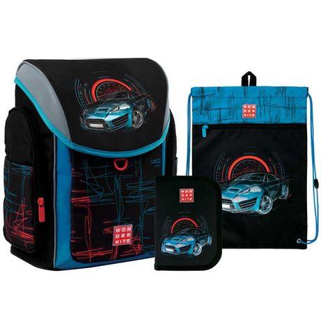Школьный набор рюкзак + пенал + сумка Wonder Kite Racing WK21-583S-4