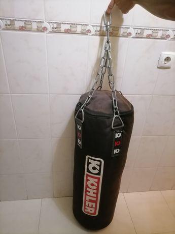 Saco de boxe usado