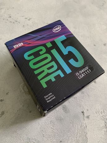 Процессор i5 9400f + охлаждение и гарантия!