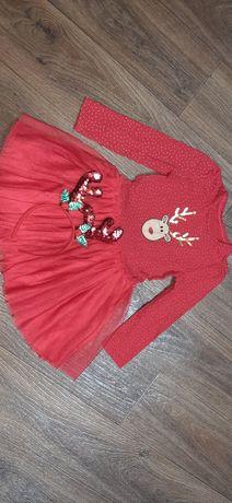 Новогодние платье на девочку.