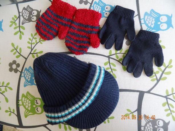 czapka na zimę, zestaw dla chłopca