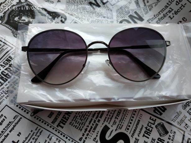 Молодежные очки на небольшое лицо серый градиент