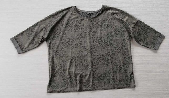 Cienka bluza w panterkę 46/48