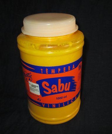 Tintas SABU Amarelo Cromo Têmpera Vinílica 1000ml novo