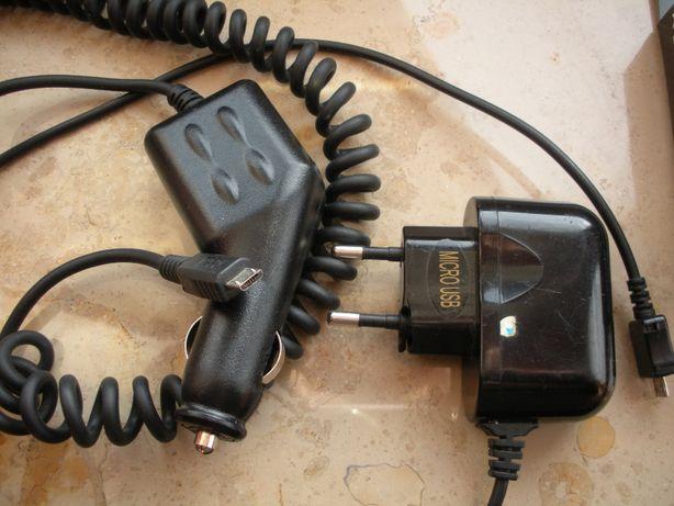 Ładowarka micro USB sieciowa i samochodowa (razem)